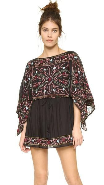 Free People Frida Embroidered Dress Black Combo Shopbop