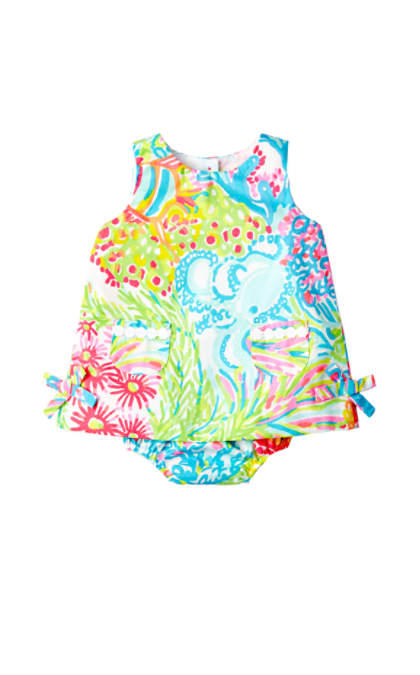 Lilly Pulitzer BABY LILLY SHIFT DRESS Multi Lovers Coral lilly pulitzer mother daughter matching outfit