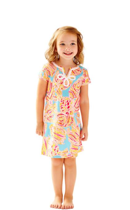Lilly Pulitzer GIRLS MINI BREWSTER T-SHIRT DRESS Breakwater Blue Tini Bikini