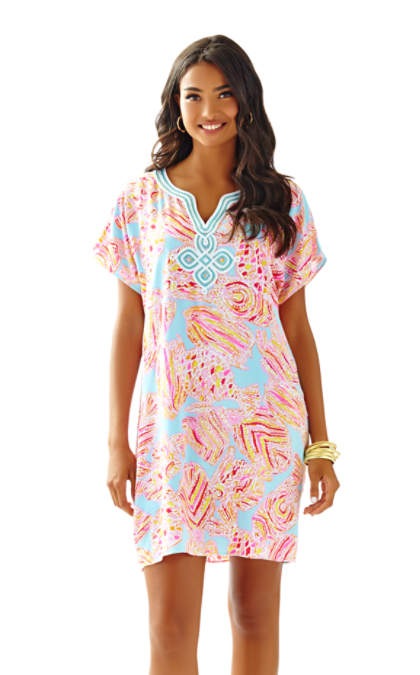 Lilly Pulitzer HARLOW TUNIC DRESS Breakwater Blue Tini Bikini lilly pulitzer mother daughter matching outfits