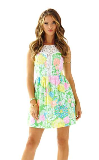Lilly Pulitzer RAEGAN FIT & FLARE DRESS Multi Hibiscus Stroll fit and flare dresses kentucky derby