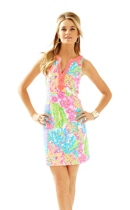 Lilly Pulitzer RYDER SHIFT DRESS Multi Lovers Coral lilly pulitzer mother daughter matching dress outfits for mother's day