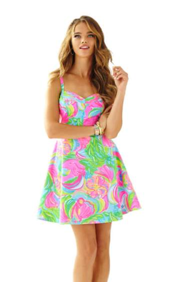 Lilly Pulitzer WILLOW SUNDRESS Multi So A Peeling fit and flare dresses for kentucky derby