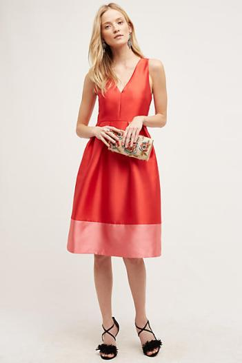 Maeve Roseblock Cross-Back Dress Red Motif fit and flare dresses kentucky derby party dress