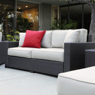 Wayfair Patio Furniture Sale  Save On Trendy Outdoor Furniture and     Serta at Home Sterling Falls Outdoor Sofa with Cushions Wayfair Patio  Furniture Sale