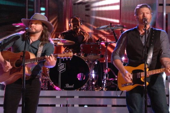 """Watch The Voice Season 10 Live Finale, Part 1 Episode 27: See Adam Wakefield and Blake Shelton sing country legends Hank Williams Jr. and Waylon Jennings classic duet """"The Conversation"""" on the Monday, May 23rd finale."""