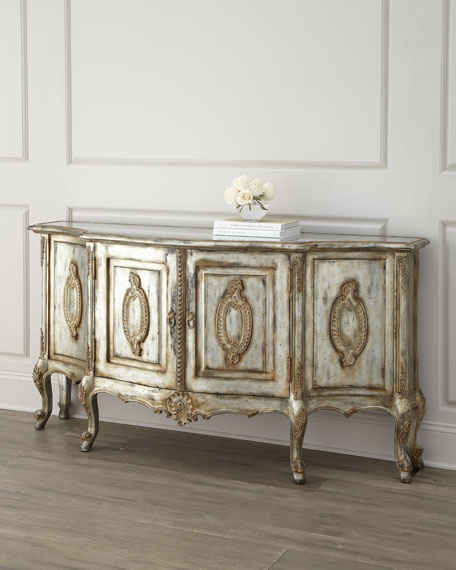 John-Richard Collection Arezzo Buffet Antique White Horchow friends and family sale