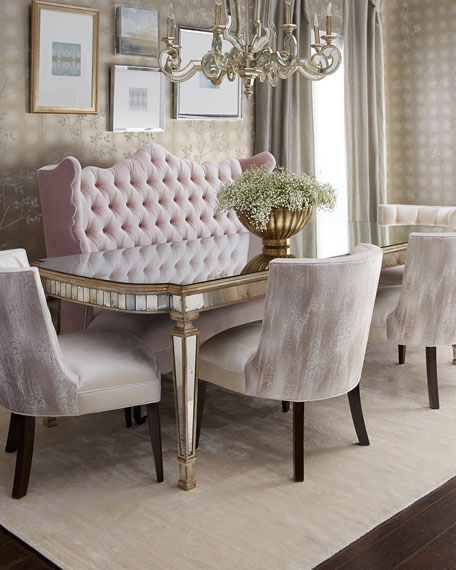"""John-Richard Collection Eliza 72""""L Antiqued Mirrored Dining Table Horchow Friends and Family Sale"""