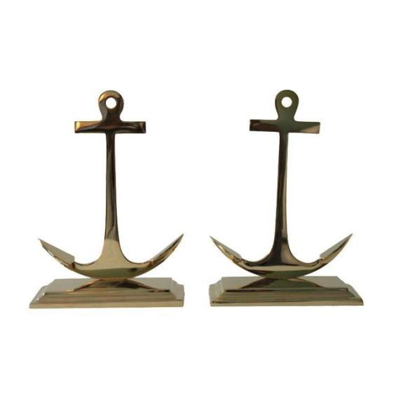 Large Brass Anchor Bookends - Pair Chairish