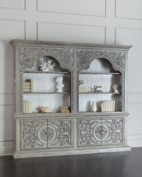 Melvil Bookcase Light Gray Horchow friends and family sale