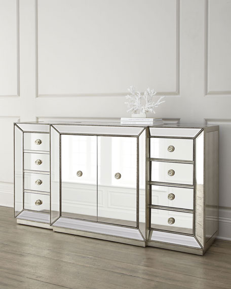 Shilo Two-Door Mirrored Sideboard Horchow friends and family sale