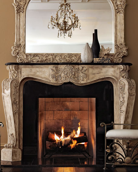 Teal Accessories Fireplace Mantel