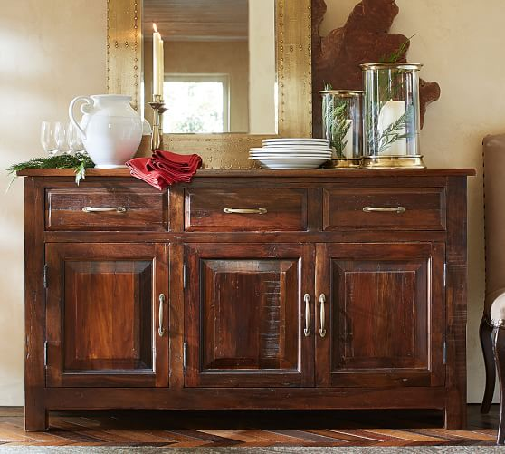 Pottery Barn BOWRY RECLAIMED WOOD BUFFET Eco-Friendly pottery barn dining furniture sale august 2016 20% off