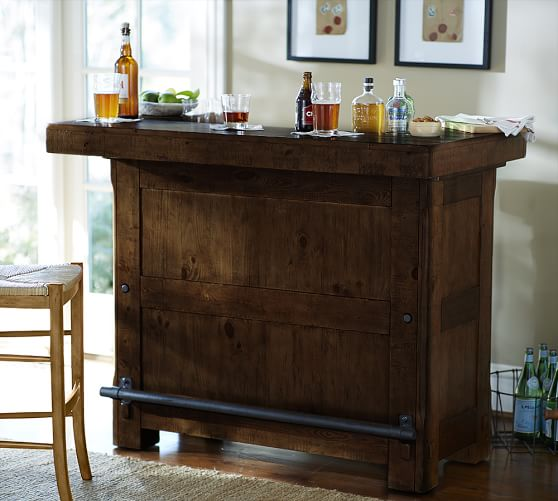 Pottery Barn RUSTIC ULTIMATE BAR - SMALL pottery barn dining furniture sale august 2016