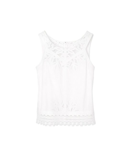 candace rose Tory Burch LYDIA TOP White Embroidered tory burch private sale candie anderson