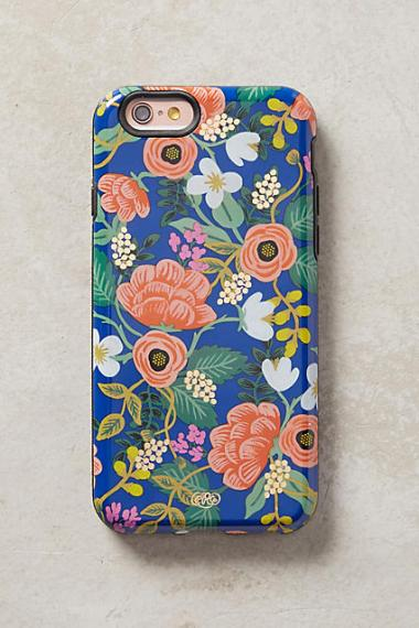 Rifle Paper Co. Floral Print iPhone 6 Case iPhone 6s Plus Case Blue Motif candace rose iPhone 6s plus cases fall 2016