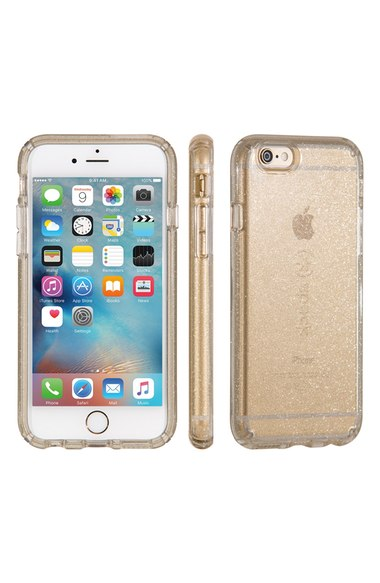 Speck 'Candyshell' iPhone 6 Plus & 6s Plus Case Clear Gold Glitter iPhone 6s plus cases trendy fall