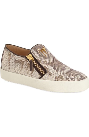 Giuseppe Zanotti 'May London' Sneaker (Women) Snake Print slip-on sneakers fall 2016