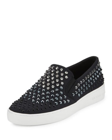 MICHAEL Michael Kors Keaton Studded Slip-On Sneaker Black slip-on sneakers fall 2016