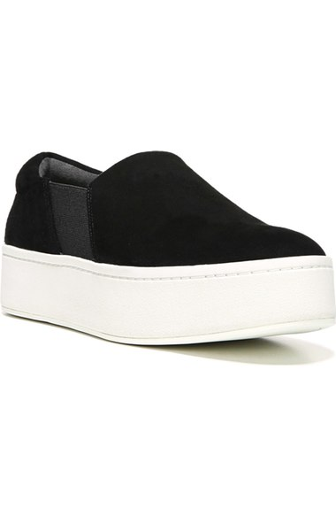 Vince 'Warren' Platform Slip-On Sneaker (Women) Black Suede slip-on sneakers fall 2016