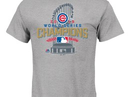Majestic Chicago Cubs Gray 2016 World Series Champions Locker Room T-Shirt chicago cubs world series champions