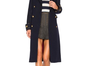 Hilfiger Collection LONG MILITARY COAT Navy Blazer