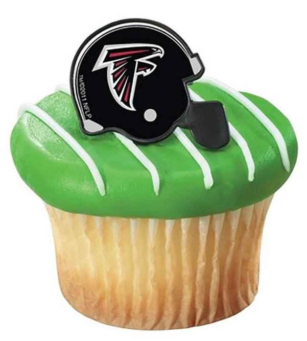 NFL Atlanta Falcons Cupcake Helmet Rings 12 count super bowl li party