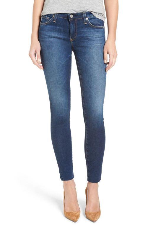 AG 'The Legging' Ankle Jeans (7 Year Break with Raw Hem) 7Yr Break with Raw Hem Nordstrom winter sale
