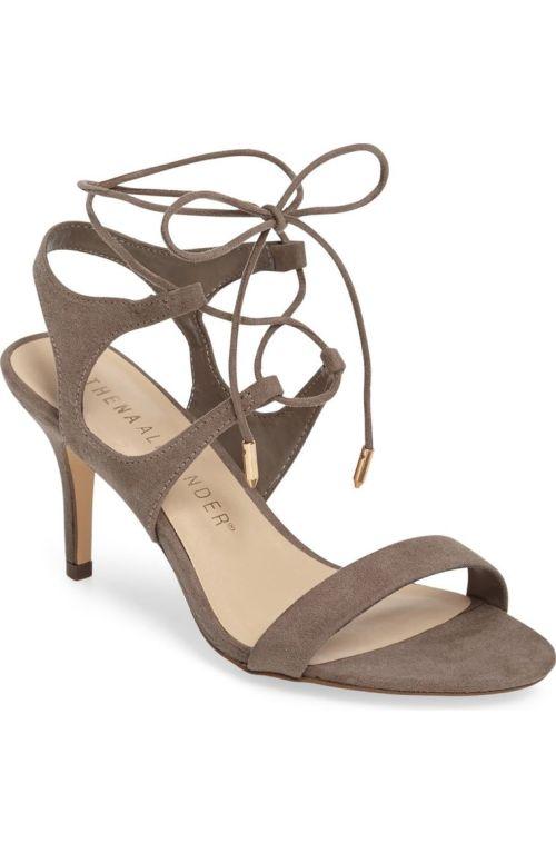 Athena Alexander Shalamar Sandal (Women) Grey Faux Suede Nordstrom winter sale