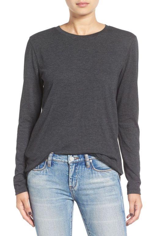 BP. Long Sleeve Crewneck Tee Grey Medium Charcoal Heather Nordstrom winter sale