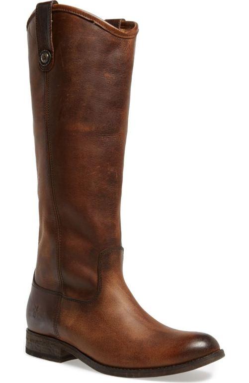 Frye 'Melissa Button' Leather Riding Boot (Women) Dark Brown 2017 Nordstrom Winter Sale