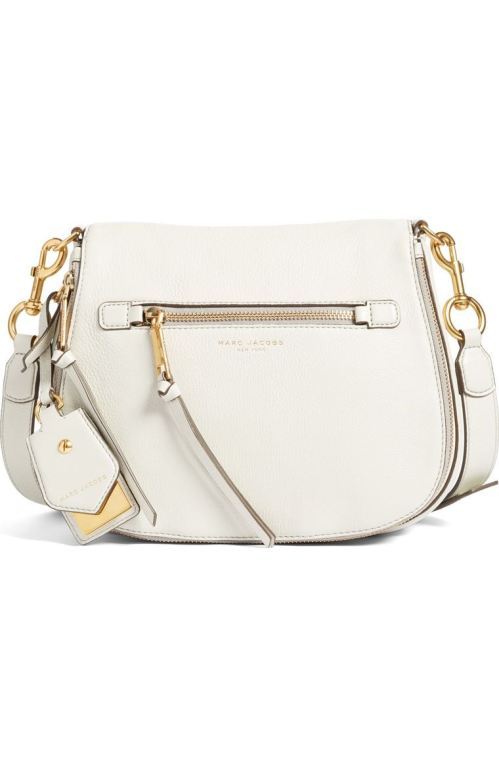MARC JACOBS Recruit Nomad Pebbled Leather Crossbody Bag Dove Nordstrom winter sale