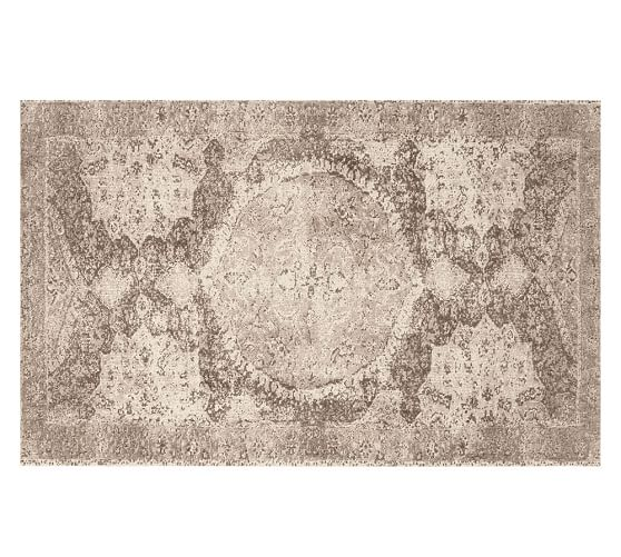 Pottery Barn BARRET PRINTED WOOL RUG - NEUTRAL 2017 pottery barn presidents day premier event sale