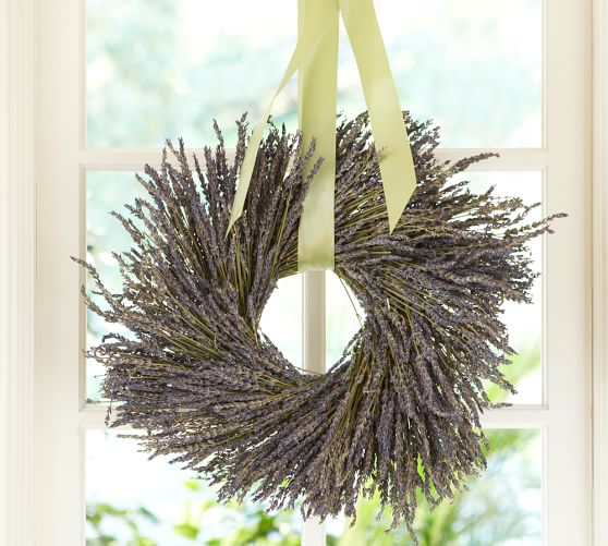 Pottery Barn DRIED LAVENDER WREATH pottery barn friends and family sale