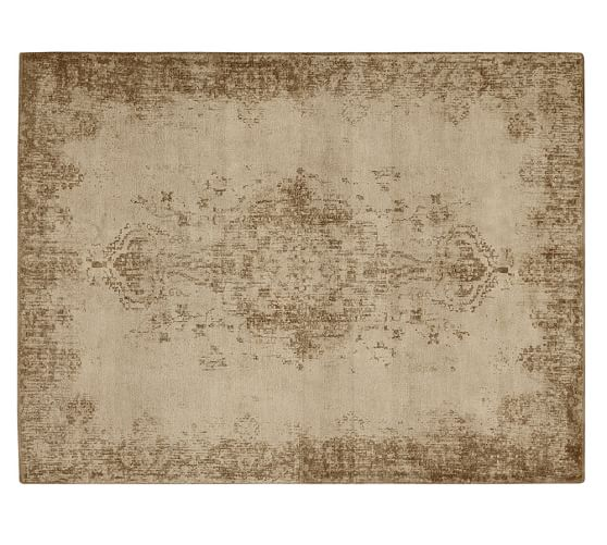 Pottery Barn FALLON PERSIAN-STYLE PRINTED RUG - NEUTRAL pottery barn friends and family sale