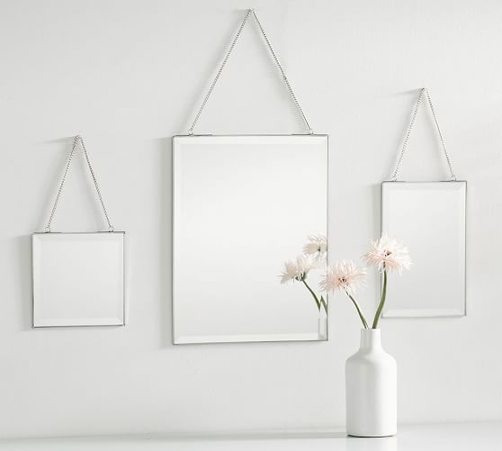 Pottery Barn HANGING BEVELED MIRRORS - SET OF 3 2017 pottery barn presidents day premier event sale