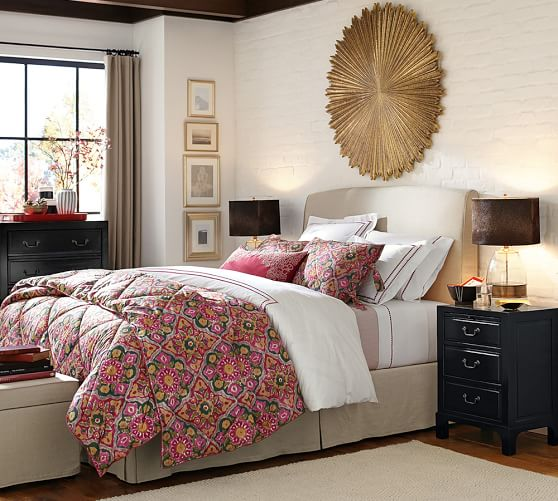 Pottery Barn LEWIS SLIPCOVERED HEADBOARD 2017 pottery barn presidents day premier event sale