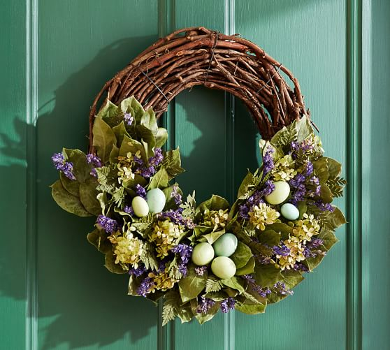Pottery Barn LIVE GARDEN EASTER WREATH pottery barn friends and family sale
