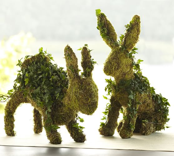 Pottery Barn LIVE IVY BUNNY TOPIARIES pottery barn friends and family sale