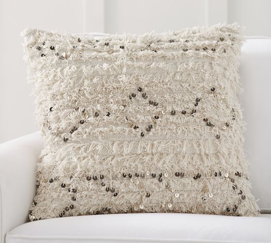 Pottery Barn MOROCCAN WEDDING BLANKET PILLOW COVER - NEUTRAL pottery barn friends and family sale