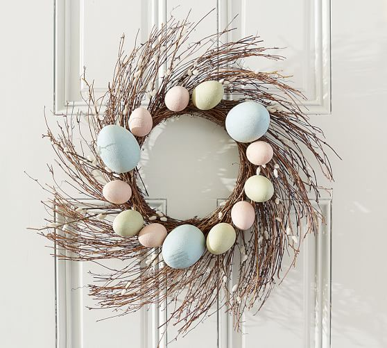 Pottery Barn PUSSY WILLOW & EGG WREATH pottery barn friends and family sale