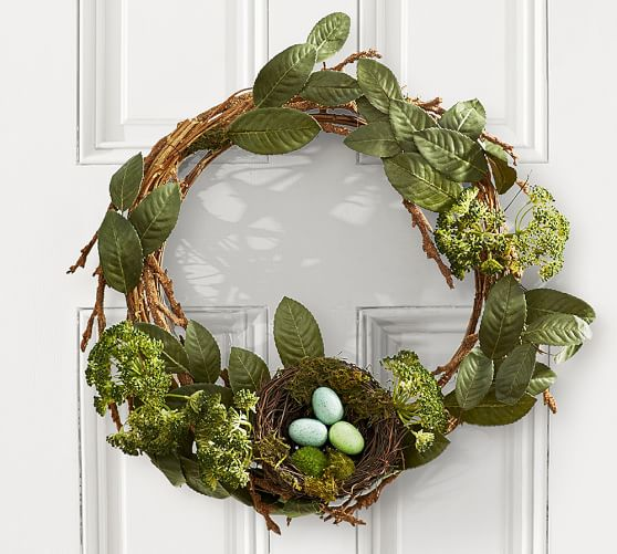 Pottery Barn RUSTIC EASTER WREATH WITH NEST pottery barn friends and family sale
