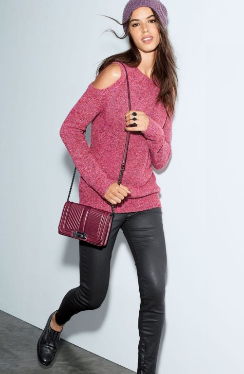 Rebecca Minkoff Small Love Leather Crossbody Bag Dark Cherry Black Hardware Nordstrom sale