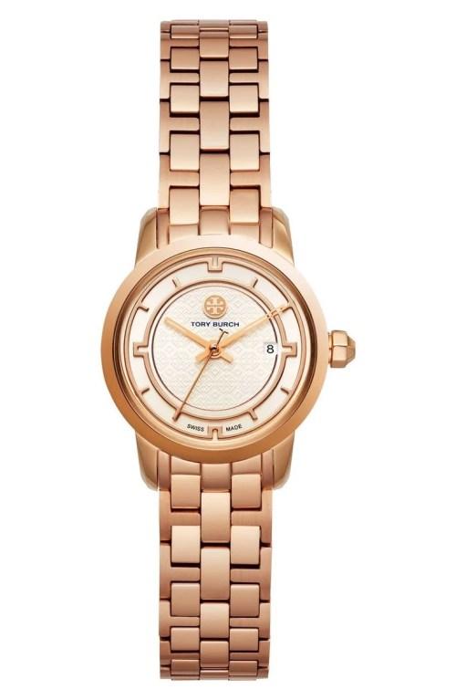 Tory Burch Classic Bracelet Watch, 28mm Rose Gold Ivory Nordstrom winter sale