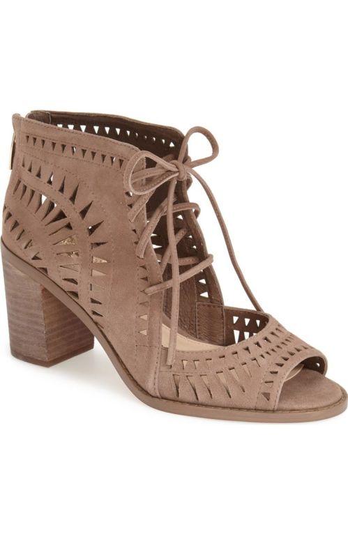 Vince Camuto 'Tarita' Cutout Lace-Up Sandal (Women) (Nordstrom Exclusive) Smoke Cloud Nordstrom winter sale
