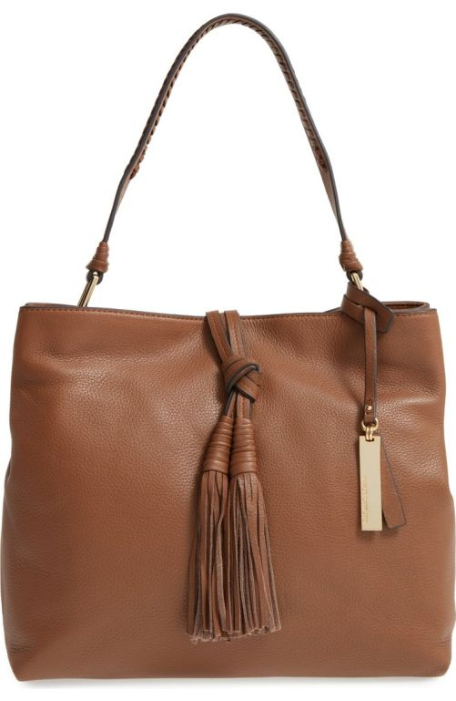 Vince Camuto Taro Leather Hobo Bag Golden Brown Nordstrom winter sale