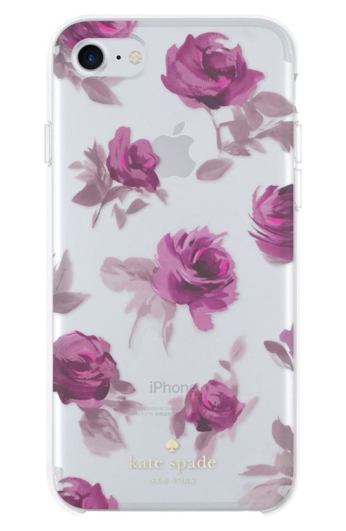 kate spade new york rose symphony iPhone 7 case Clear Multi Nordstrom winter sale