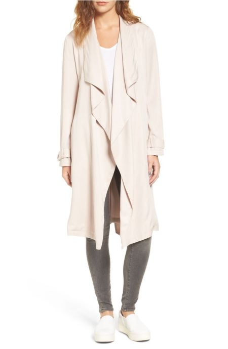 BB Dakota Barkly Drape Front Trench Coat Parchment trench coats spring 2017