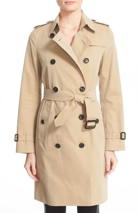 Burberry London 'Kensington' Long Trench Coat Honey trench coats spring 2017