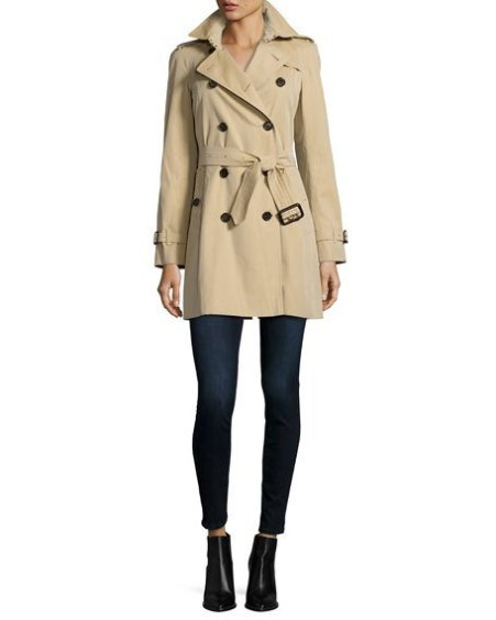 Burberry The Westminster - Mid-Length Classic Fit Heritage Trench Coat Honey  trench coats spring 2017